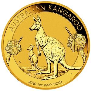 Gold Australian Kangaroo Känguru 2020 1oz